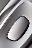 Bouton de chrome Image libre de droits