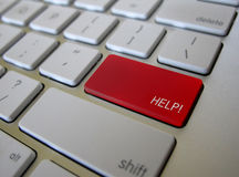 Bouton de clé d'aide de clavier Image libre de droits