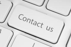 Bouton de clavier de contactez-nous Photo libre de droits