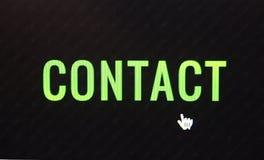 bouton de clic de contact Image libre de droits