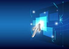 Bouton de cliquetis de curseur sur l'écran Image libre de droits