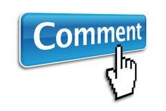 Bouton de commentaire Photos stock
