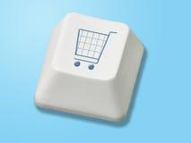 Bouton de commerce électronique Photographie stock