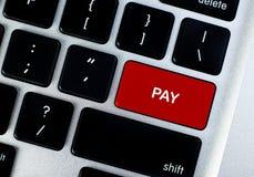 Bouton de concept de salaire photos libres de droits