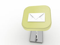 Bouton de courrier Photos libres de droits