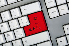 Bouton de courrier Photos stock