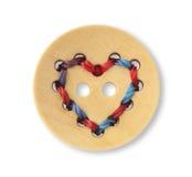 bouton de couture en bois Image libre de droits
