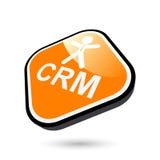 Bouton de CRM Images stock