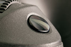 Bouton de déclencheur d'un appareil-photo de DSLR Image stock