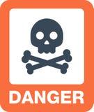 Bouton de danger d'icônes d'attention et panneaux d'avertissement illustration stock