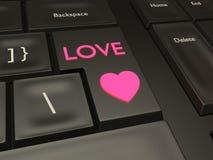 Bouton de datation d'amour illustration de vecteur