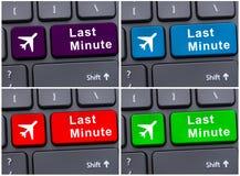 Bouton de dernière minute sur le clavier d'ordinateur Photo libre de droits