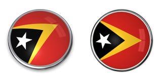 Bouton de drapeau East Timor/East Timor illustration de vecteur