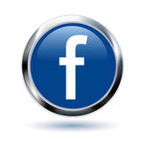 Bouton de Facebook Photos libres de droits