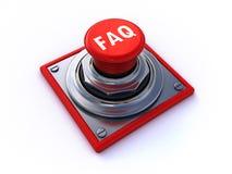 Bouton de FAQ Photos libres de droits