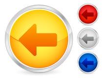 bouton de flèche laissé Images libres de droits