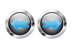 bouton de flèche lustré Images libres de droits