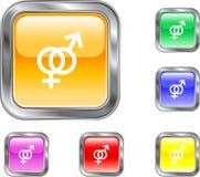 Bouton de genre Photos libres de droits