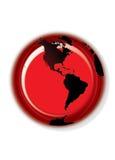 Bouton de globe - blanc Images libres de droits