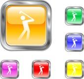 Bouton de golf Photographie stock libre de droits