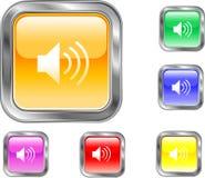 Bouton de haut-parleur Images stock