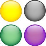 bouton de l'aqua 3d Image libre de droits
