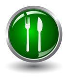 bouton de lueur de nourriture Photo libre de droits