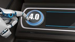 Bouton 4 de main de robot photo libre de droits