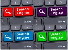 Bouton de moteur de recherche d'Internet photo stock