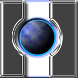 Bouton de navigation de globe Images libres de droits