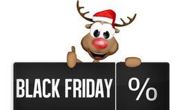 Bouton de noir de Black Friday Photos stock