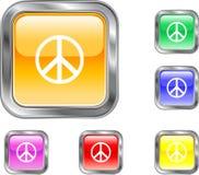 Bouton de paix Photographie stock libre de droits