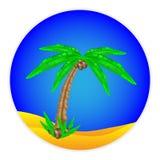 Bouton de palmier Image libre de droits