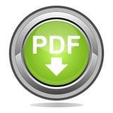 Bouton de pdf illustration de vecteur