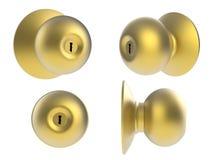 Bouton de porte d'or Photos libres de droits