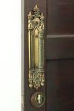 Bouton de porte de cuivre rouillé Photographie stock