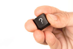 Bouton de question Photo stock