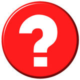 Bouton de question illustration libre de droits