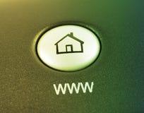 Bouton de raccourci de site Web Images stock