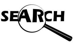 Bouton de recherche Photographie stock