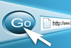 Bouton de recherche d'Internet Photos stock