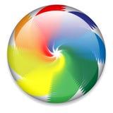 Bouton de rotation coloré illustration de vecteur