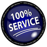 Bouton de service de 100% Photos stock