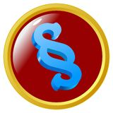 Bouton de signe de section Image stock