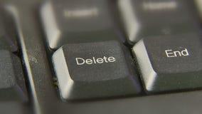 Bouton de suppression de poussée de presse de doigt banque de vidéos