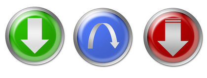 Bouton de téléchargement Image stock