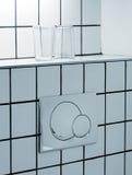 Bouton de toilette Photos libres de droits
