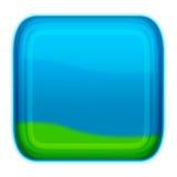 Bouton de type d'Aqua - bleus Photos stock