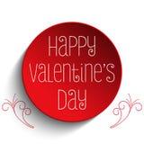 Bouton de Valentine Day je t'aime Photo libre de droits