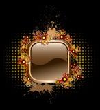 Bouton de vecteur avec les éléments populaires Image stock